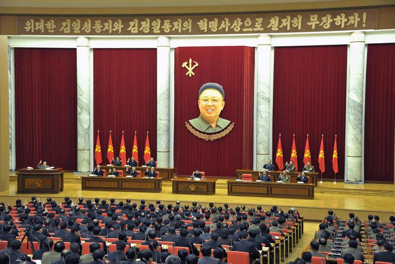 Kim Dzong Un na posiedzeniu Partii Pracy Korei /AFP