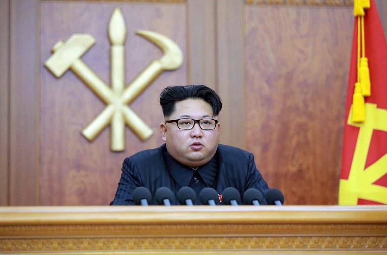 Kim Dzong Un, przywódca Korei Północnej /KNS / KCNA / AFP /AFP