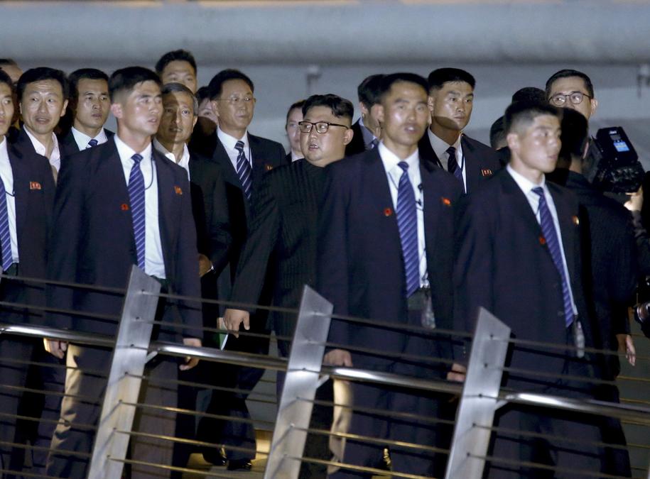 Kim Dzong Un zdecydował się na zwiedzanie miasta /LYNN BO BO /PAP/EPA