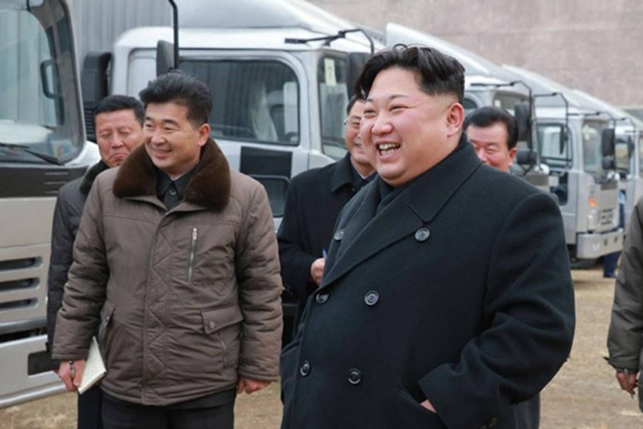 Kim Dzong Un /KCNA/Newscom /PAP/EPA