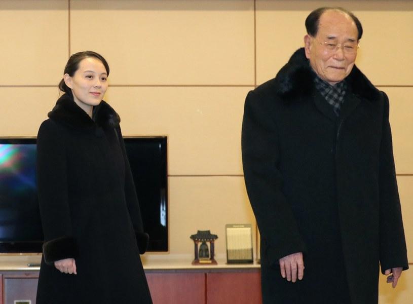 Kim Jo Dzong i Kim Dzong Nam /YONHAP   /PAP/EPA