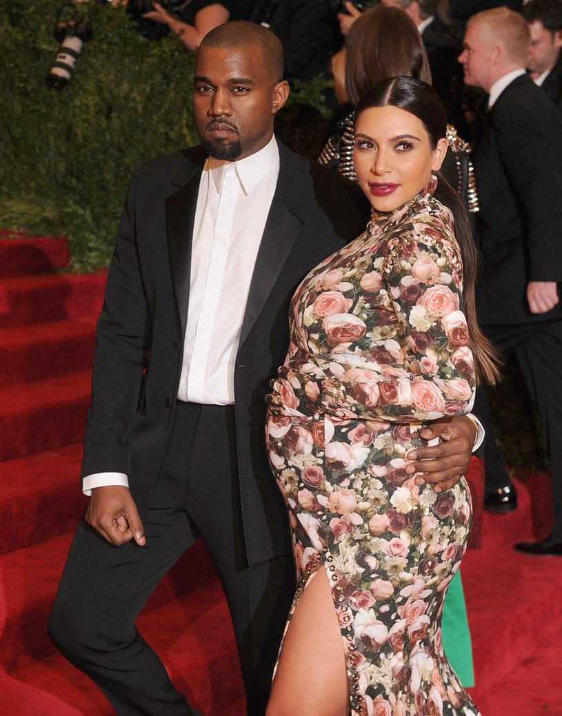 Kim Kardashian i Kanye West zostali rodzicami. /Getty Images/Flash Press Media