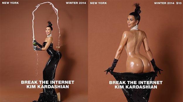 """Kim Kardashian na okładce kwartalnika """"Paper"""". /"""