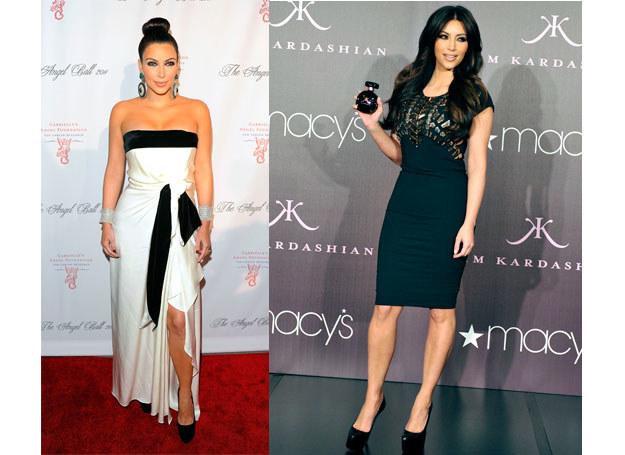 Kim Kardashian wybiera tylko te stroje, które koryguja sylwetkę /Getty Images/Flash Press Media
