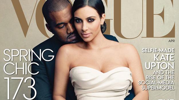 """Kim Kardashian z Kanye'em Westem na okładce """"Vogue'a"""". /materiały prasowe"""