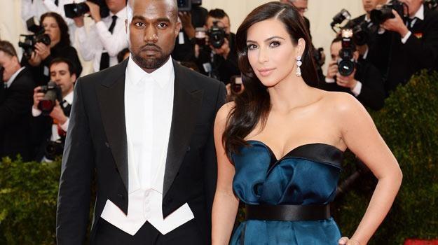 Kim Kardashian z obecnym małżonkiem, raperem Kanye'em Westem - fot. Dimitrios Kambouris /Getty Images