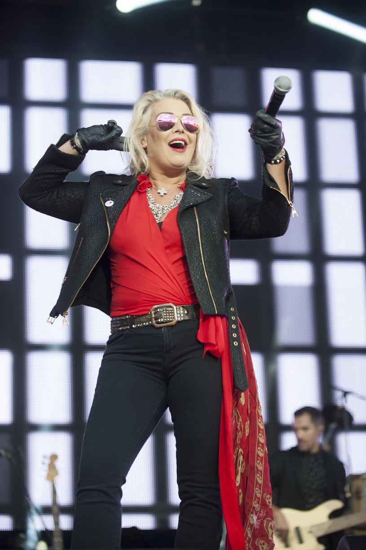 Kim Wilde na scenie w sierpniu 2017 r. /Pete Doherty/Photoshot/Retna/Avalon.red /Reporter