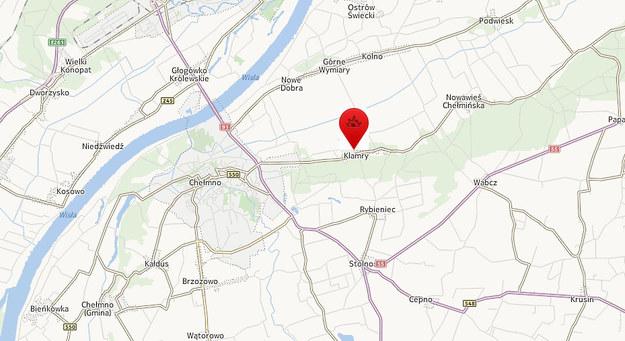 Klamry k. Chełmna /Map24.interia.pl