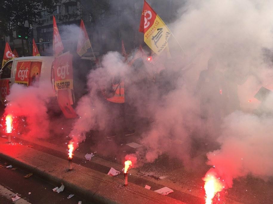 Kłęby dymu w centrum Paryża /Marek Gładysz /RMF FM