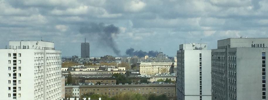 Kłęby dymu widoczne są z daleka /Gorąca Linia RMF FM