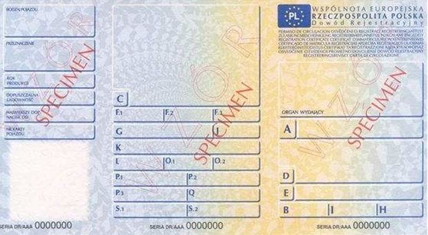 Kliknij i zobacz jak będzie wyglądał dowód rejestracyjny /INTERIA.PL