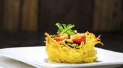 Klopsiki w gniazdkach ze spaghetti