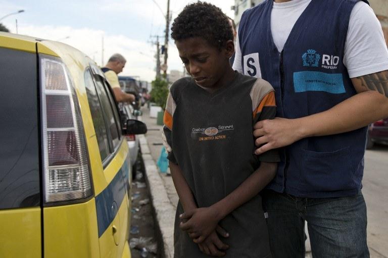 Klub bokserski mógłby być doskonałym sposobem, by zwabić dzieci z ulic w bezpieczniejsze miejsce - mówi Luke /AFP