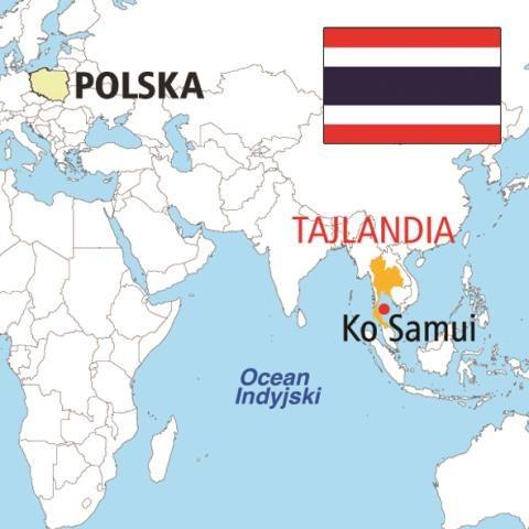 Ko Samui jest trzecią pod względem wielkości wyspą Tajlandii.   500 hoteli odwiedza rocznie pół miliona turystów. Wielu tu wraca. /Pracownia Projektowa Maxpol Grażyna Bogusiewicz