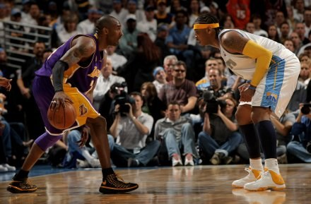 Kobe Bryant (Lakers) i Carmelo Anthony (Nuggets) /AFP
