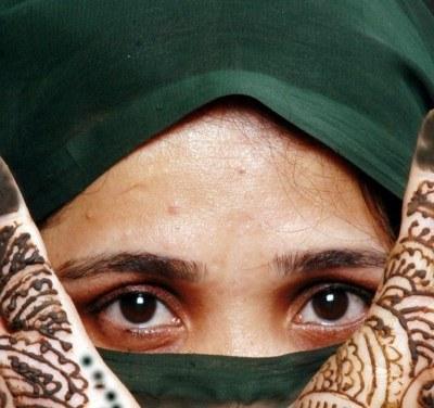 Kobieta Islamu to przede wszystkim oczy /AFP