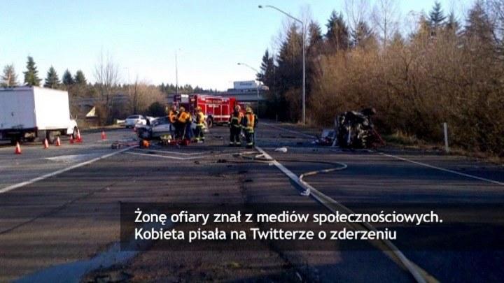 Kobieta nie wiedziała, że w wypadku zginął jej mąż. /TVN24/x-news