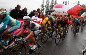 Kolarze w drodze do mety w końcówce piątego etapu 71. Tour de Pologne /Grzegorz Momot /PAP