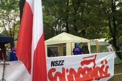 Kolejny dzień związkowców pod Sejmem