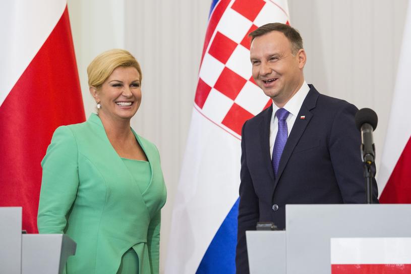 Kolinda Grabar-Kitarović i Andrzej Duda /Andrzej Hulimka  /Reporter