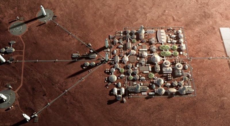 Kolonia na Marsie zbudowana dzięki ITS /materiały prasowe