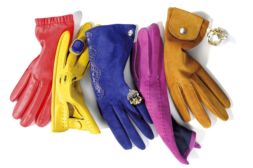 Kolorowe rękawiczki to hit tej zimy /Twój Styl