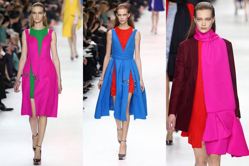Kolory na pokazie Christiana Diora /East News/ Zeppelin