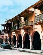 Kolumbia, Kartagena, domy w stylu andaluzyjskim /Encyklopedia Internautica