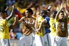 Kolumbijczycy w euforii po wygranym meczu z Grecją