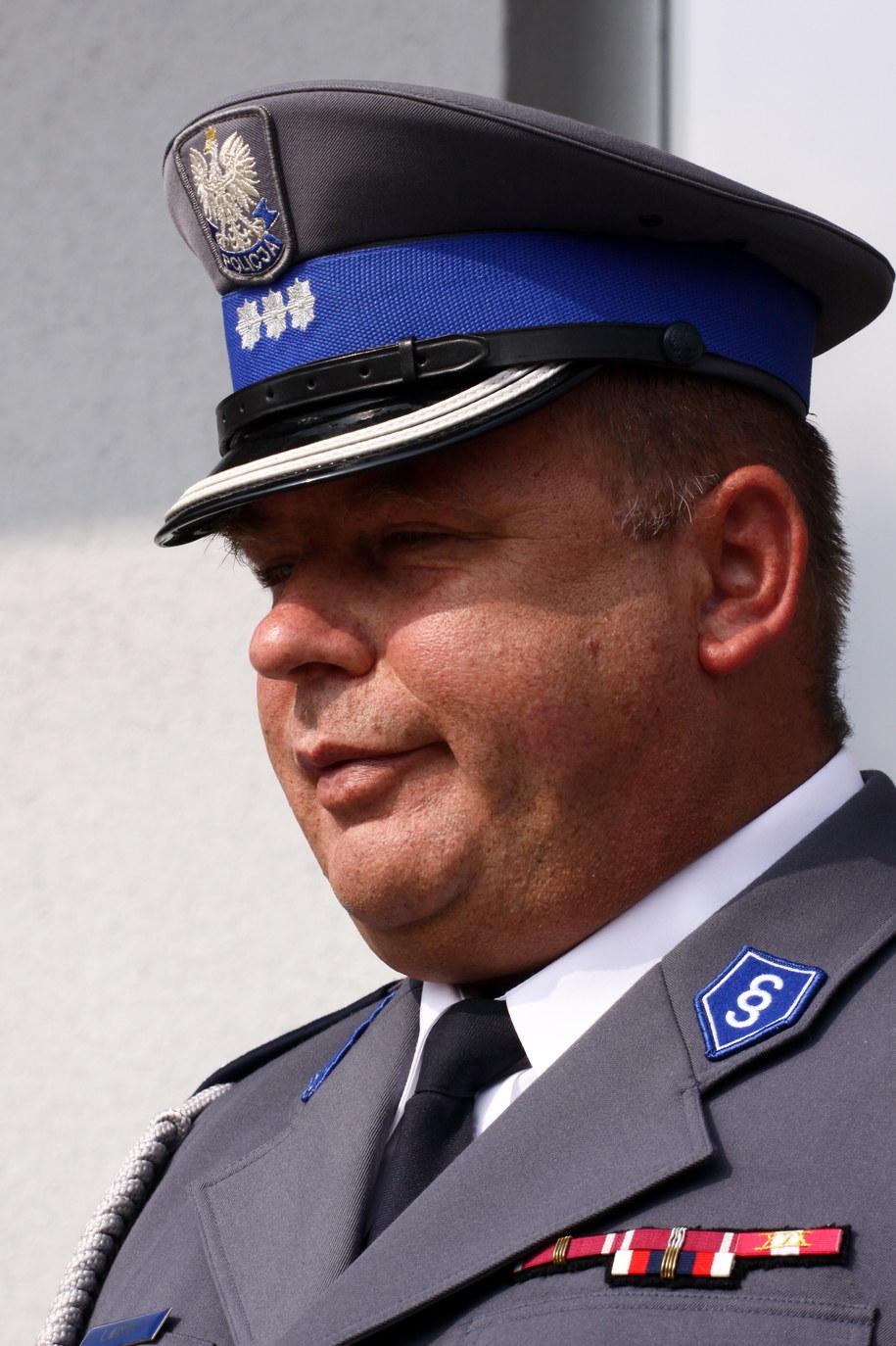 Komendant Wojewódzki Policji w Gorzowie Wlkp. inspektor Leszek Marzec /Lech Muszyński /PAP