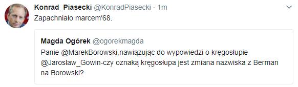 Komentarz Konrada Piaseckiego /Twitter