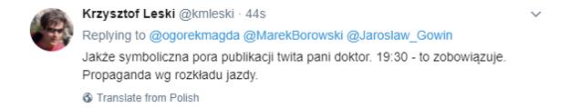 Komentarz Krzysztofa Leskiego /Twitter