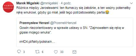 Komentarz Marka Migalskiego /Twitter