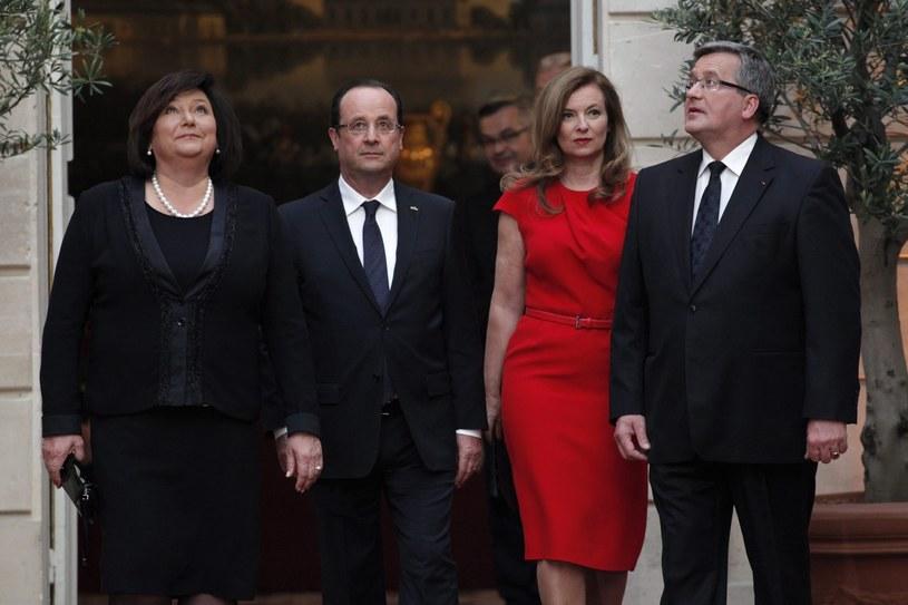 Komorowscy z wizytą we Francji /PAP/EPA