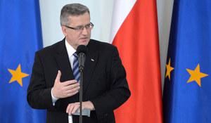 Komorowski: Polska może się czuć zagrożona