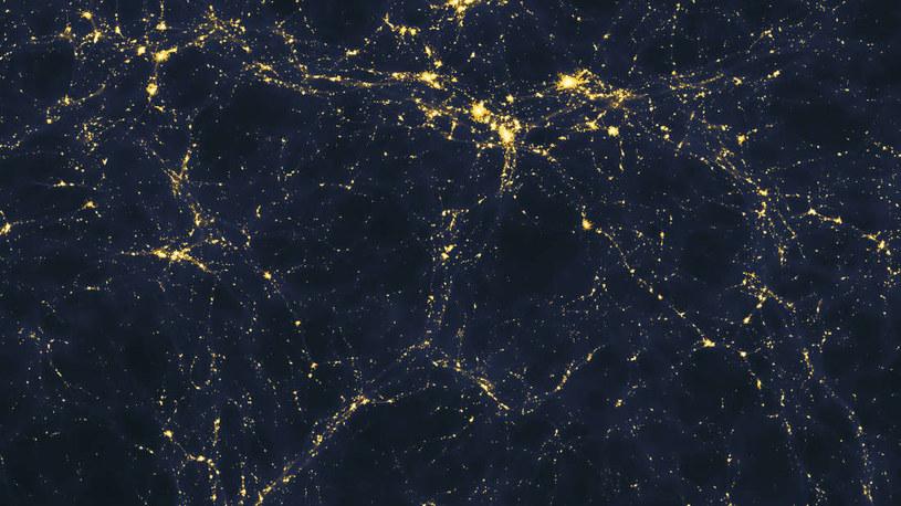Komputerowa symulacja pokazująca jak powinny być rozmieszczone galaktyki we wszechświecie /NASA