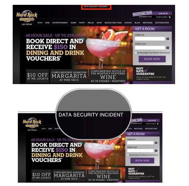 Komunikat na stronie Hard Rock Hotel & Casino. /materiały prasowe