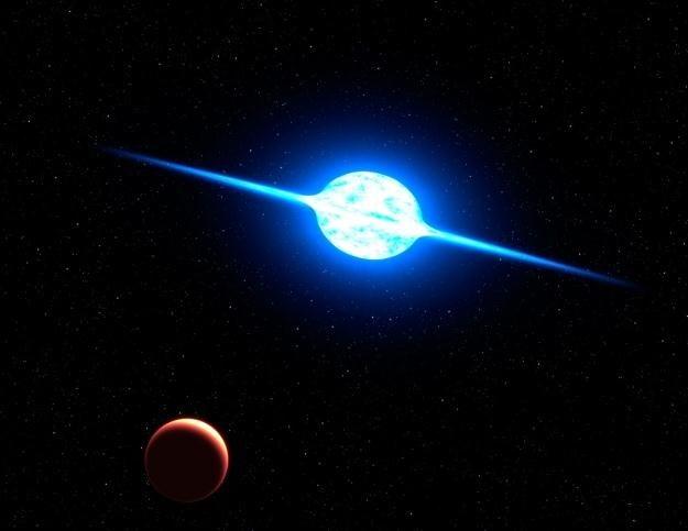 Koncepcyjna wizja najszybciej wirującej gwiazdy    (Fot. NASA/ESA) /materiały prasowe