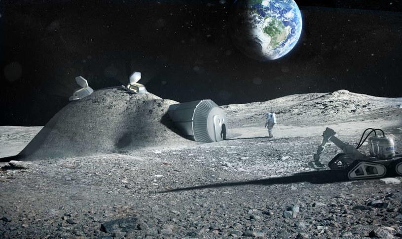 Koncept księżycowej bazy ESA /materiały prasowe
