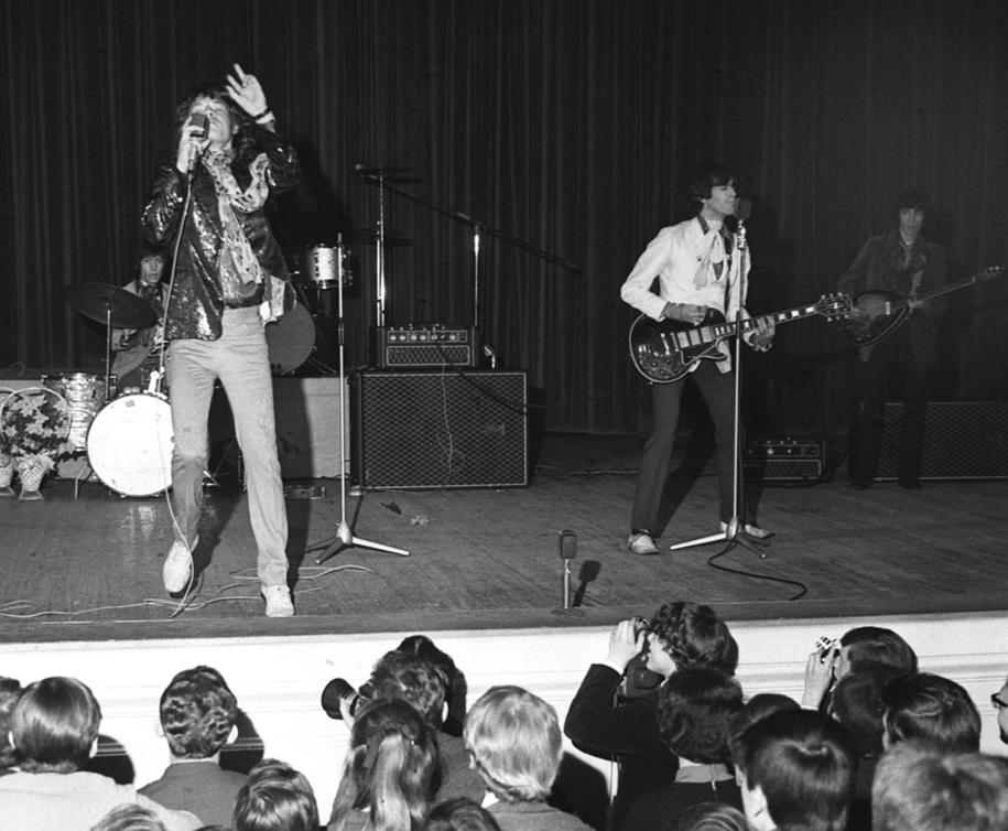 Koncert The Rolling Stones w Sali Kongresowej PKiN w Warszawie w 1967 roku /Cezary Marek Langda /PAP