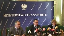 Konferencja ministra transportu