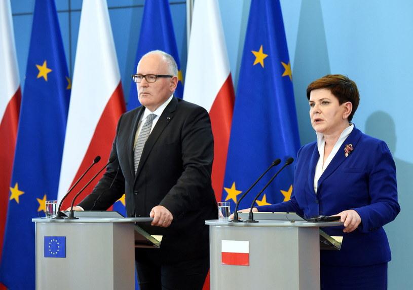 Konferencja po rozmowach /Radek Pietruszka /PAP