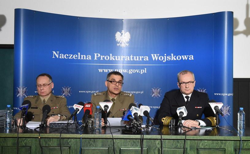 Konferencja prasowa Naczelnej Prokuratury Wojskowej /Radosław Pietruszka /PAP