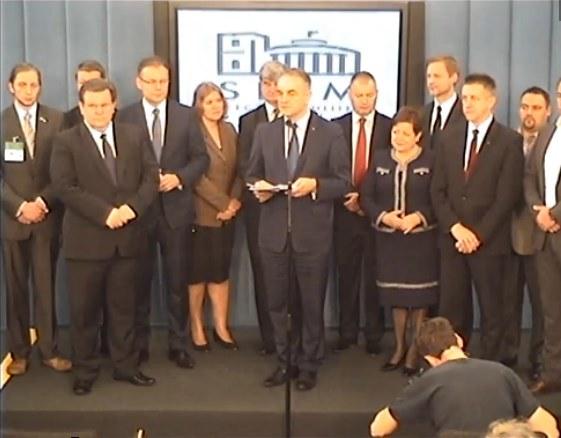 Konferencja prasowa o projekcie ustawy PAK Fot. Telewizja Sejmowa /materiały prasowe