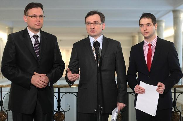 Konferencja prasowa Solidarnej Polski, fot. Leszek Szymański /PAP