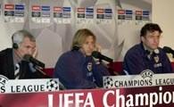 Konferencja przed finałem. Od lewej: Cuper, Mendieta i Carboni
