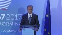 Konferencja Tuska i Junckera na szczycie G7