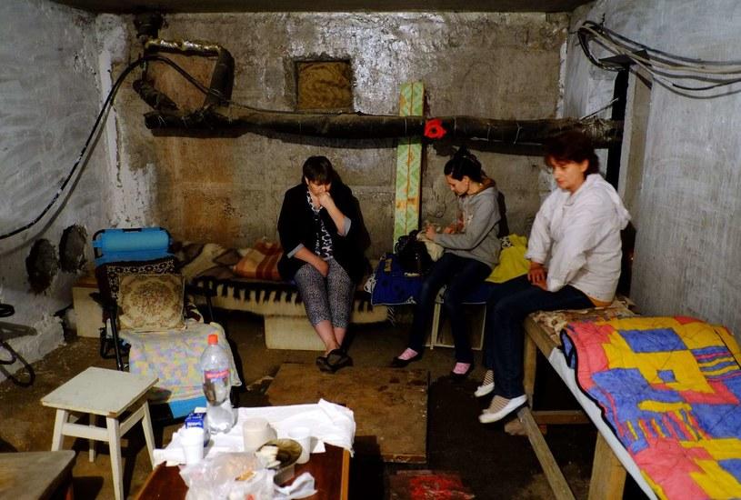 Konflikt na Ukrainie to dramat cywilów. /AFP