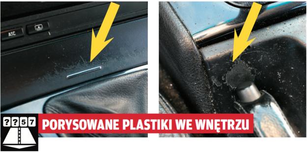 Koniecznie trzeba zwrócić uwagę na miejsca, z którymi ma się najczęstszy kontakt. Porysowaną pokrywę od popielniczki można co prawda wymienić, wytarty plastik przy dźwigni zmiany biegów jest trudniejszy do zatuszowania. /Motor