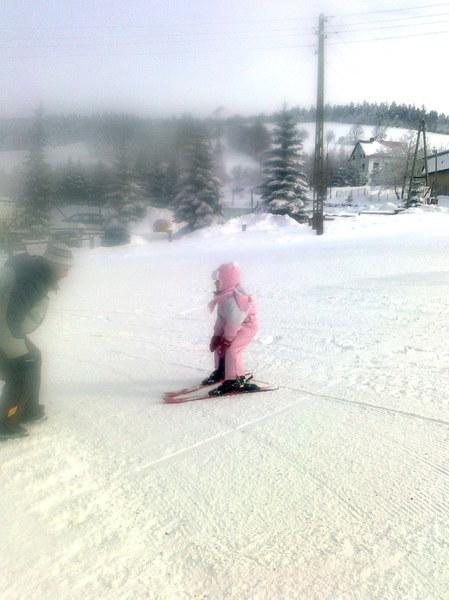Już jeżdżę na nartach!